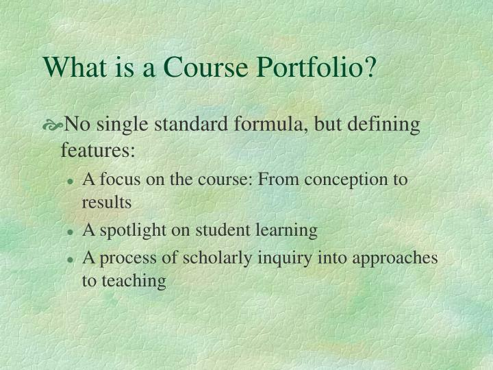 What is a course portfolio