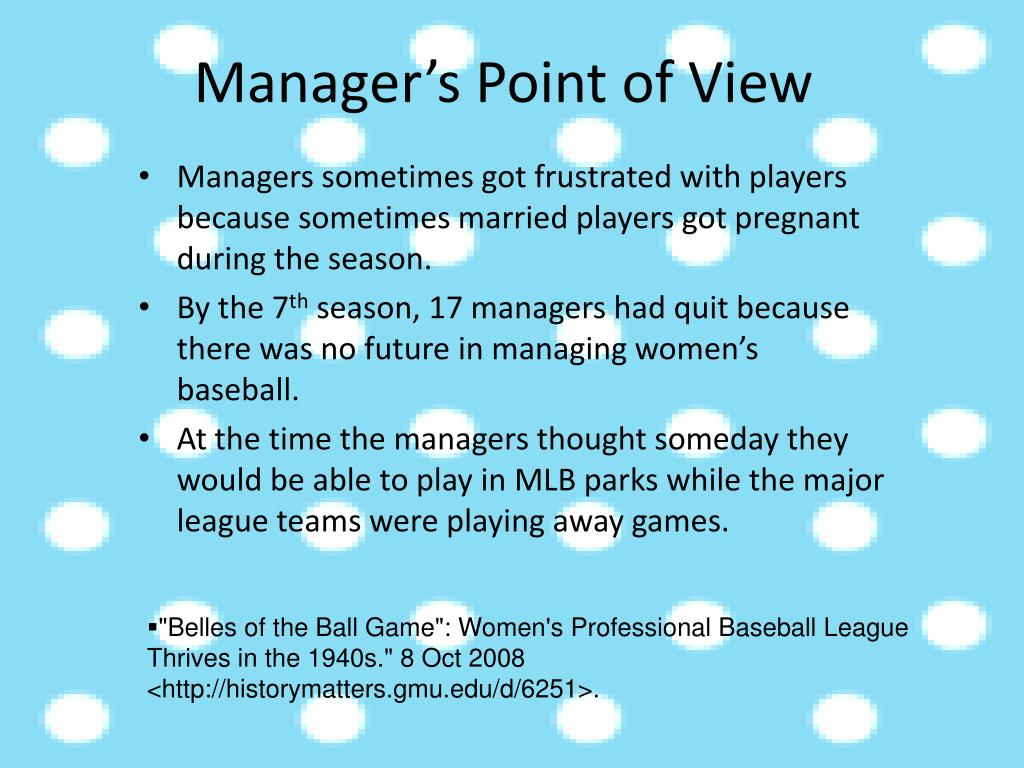 Manager's Point of View