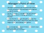 manager s point of view