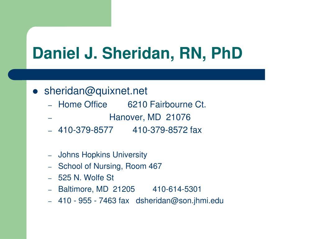 Daniel J. Sheridan, RN, PhD