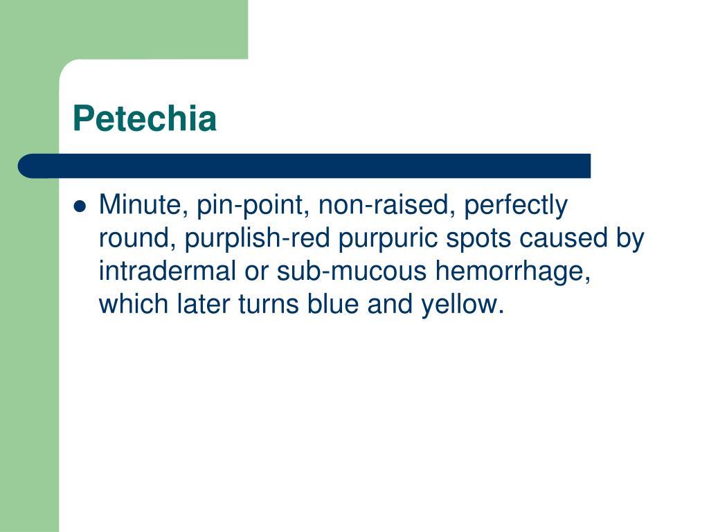 Petechia