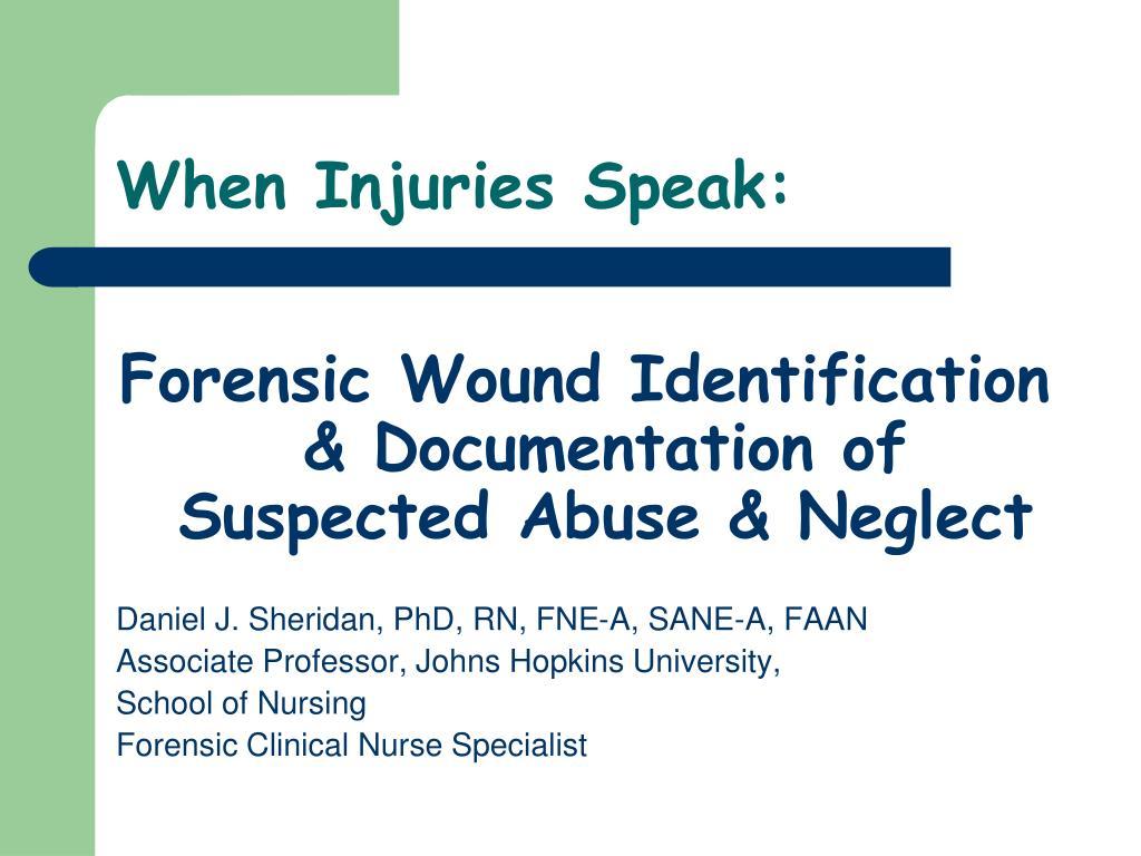 When Injuries Speak: