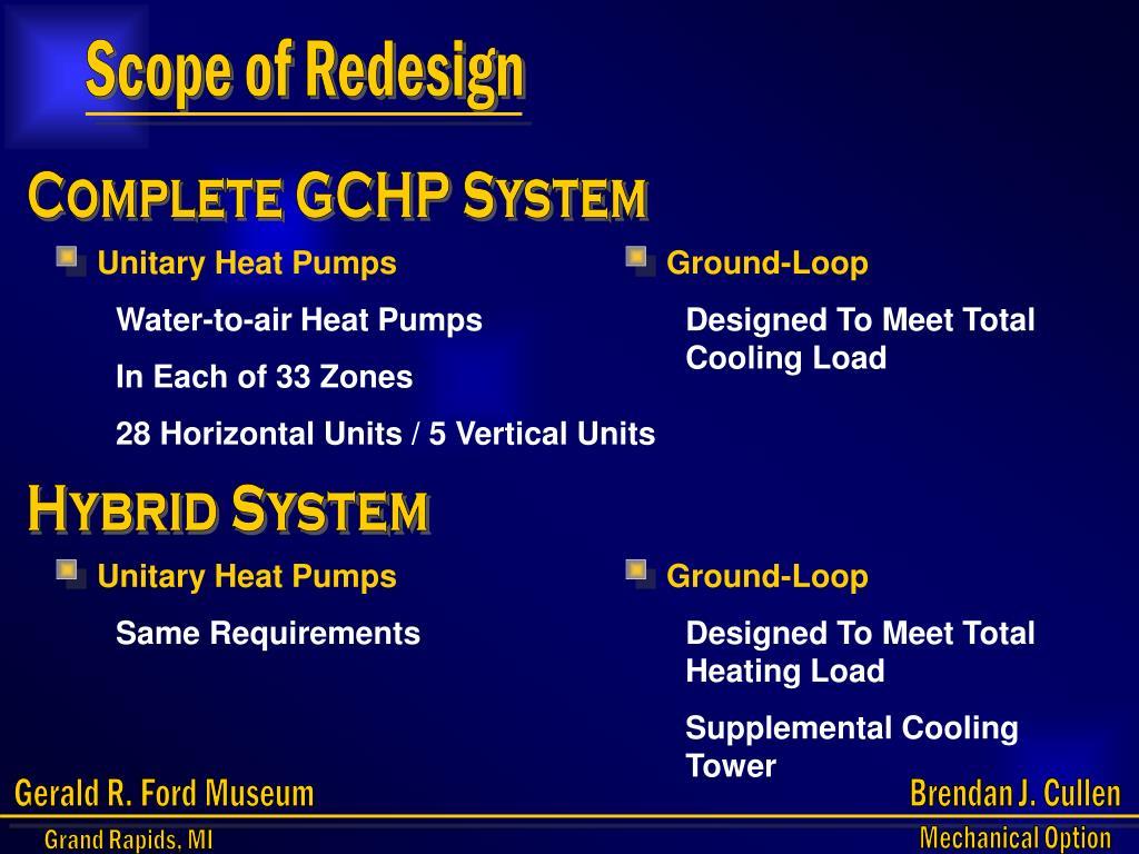 Scope of Redesign