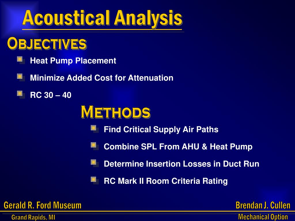 Acoustical Analysis
