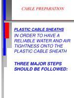 cable preparation