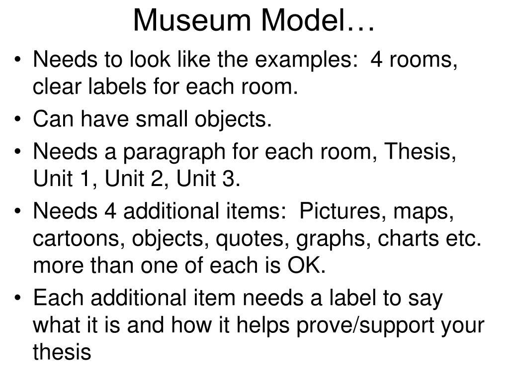 Museum Model…
