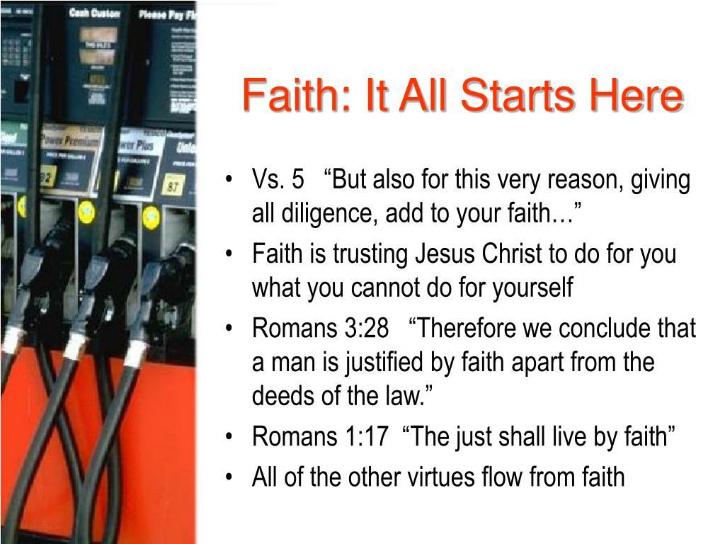 Faith: It All Starts Here
