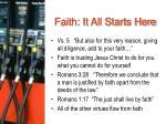 faith it all starts here