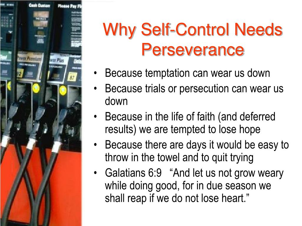 Why Self-Control Needs Perseverance