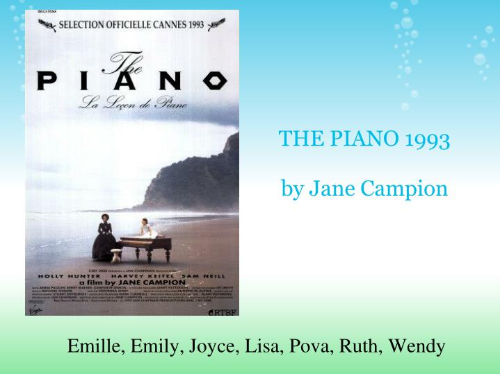 The piano 1993 by jane campion