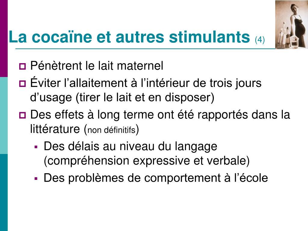 La cocaïne et autres stimulants