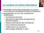 la coca ne et autres stimulants