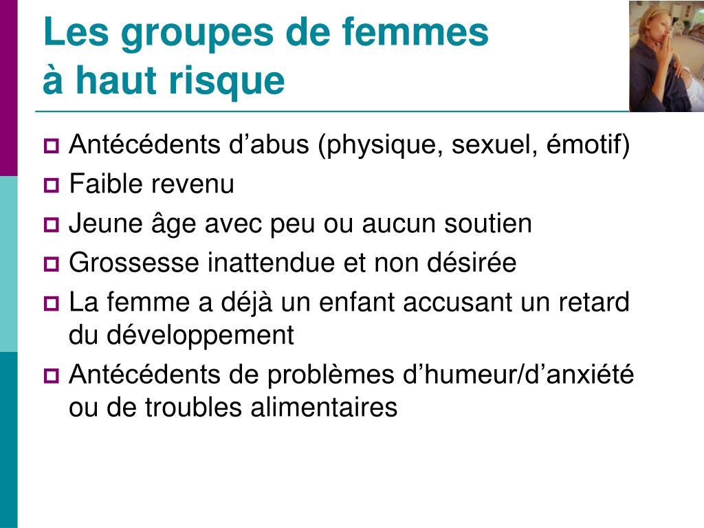 Les groupes de femmes