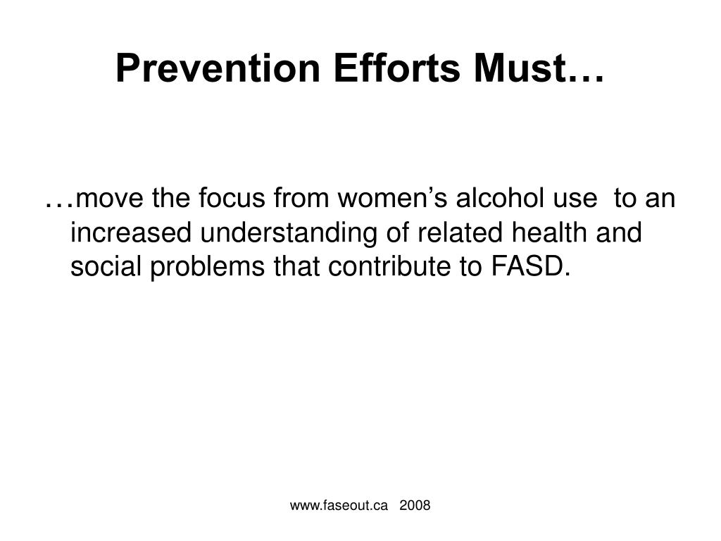 Prevention Efforts Must…