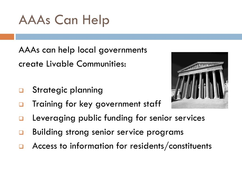 AAAs Can Help