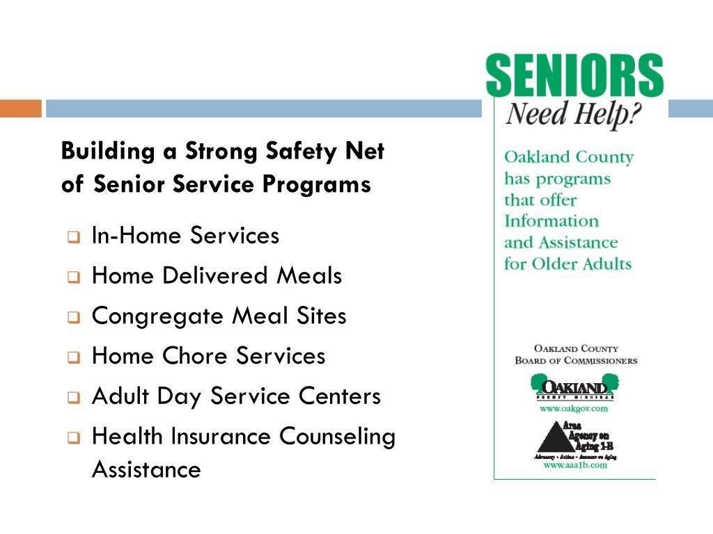 Building a Strong Safety Net of Senior Service Programs