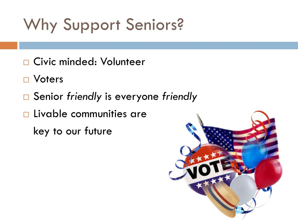 Why Support Seniors?