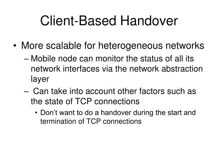 Client-Based Handover