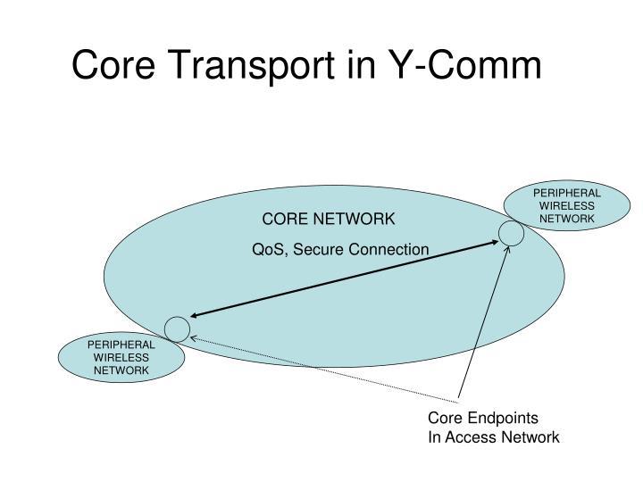 Core Transport in Y-Comm