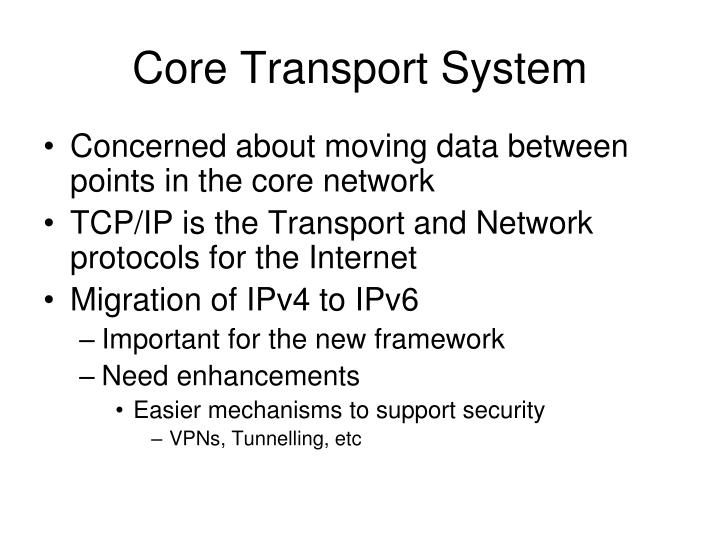 Core Transport System