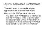 layer 5 application conformance
