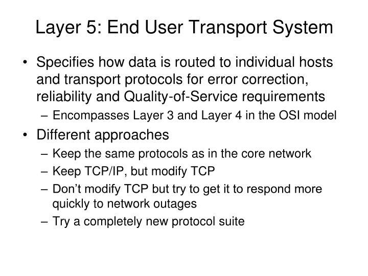 Layer 5: End User Transport System
