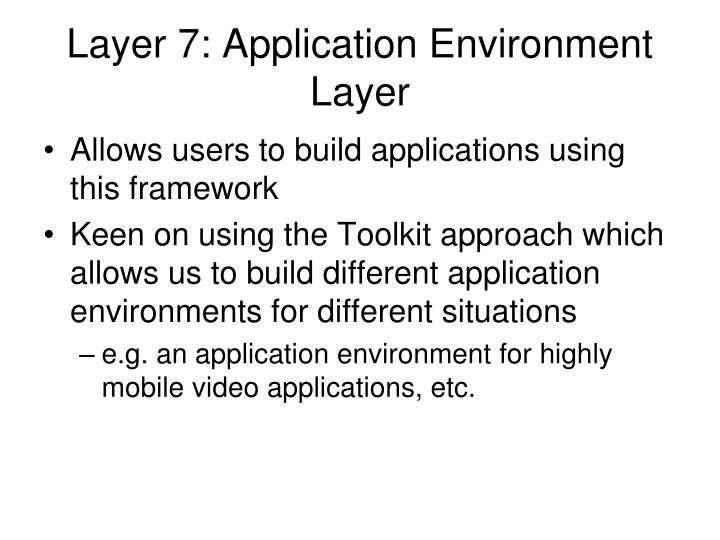 Layer 7: Application Environment Layer