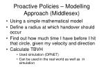 proactive policies modelling approach middlesex