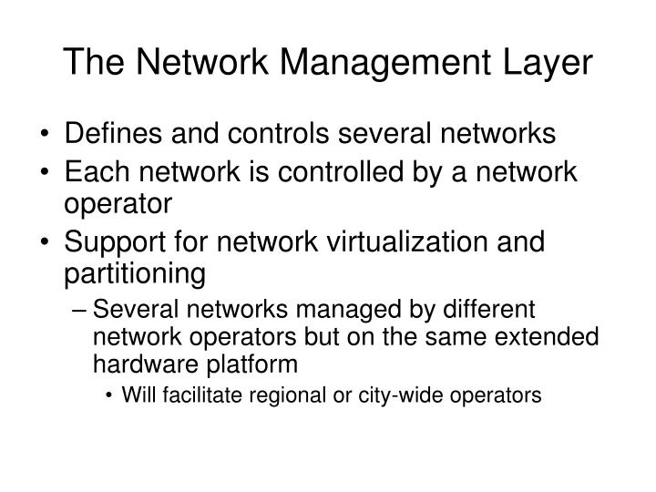 The Network Management Layer
