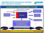 aberdare 2010 and beyond strategic plan concept summary