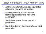 study parameters four primary tasks