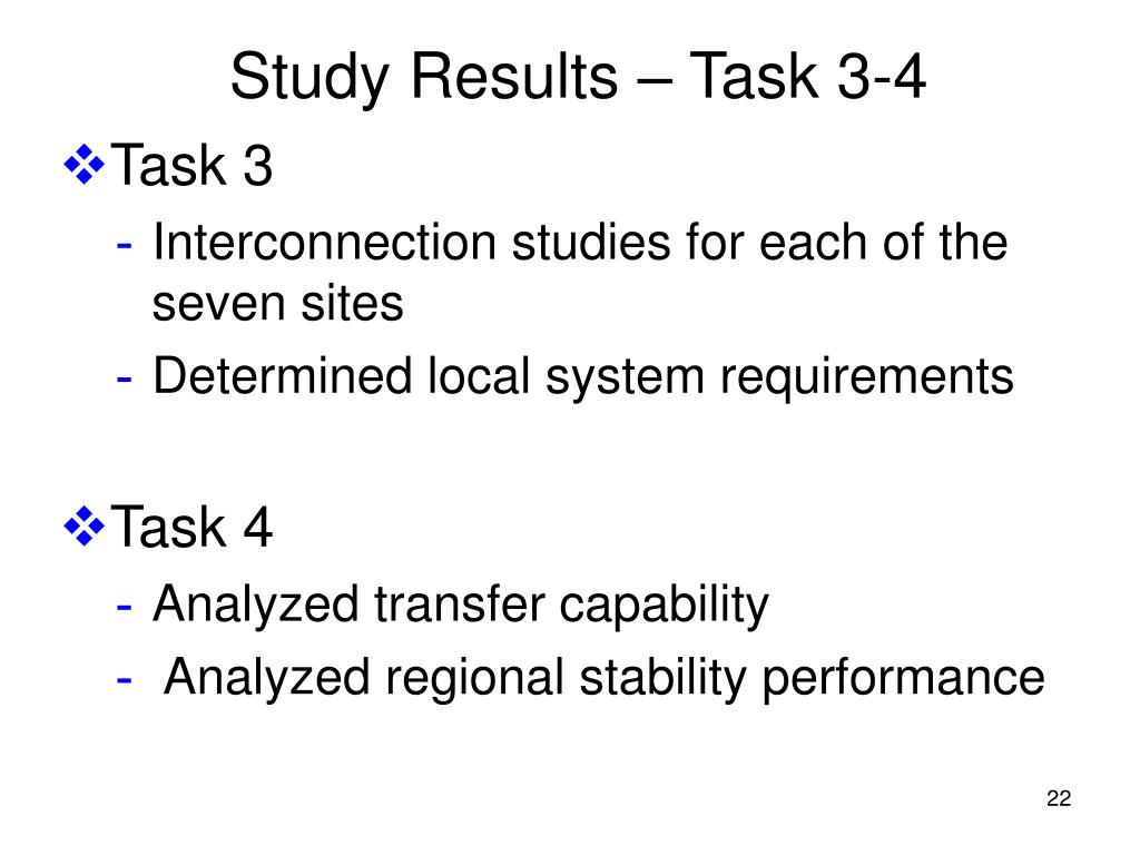 Study Results – Task 3-4