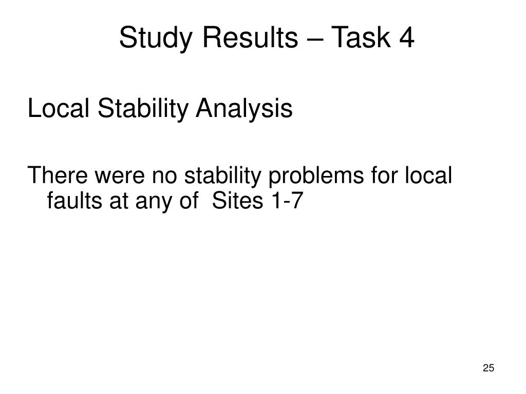 Study Results – Task 4