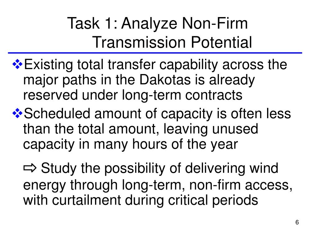 Task 1: Analyze Non-Firm