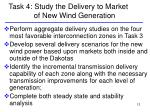 task 4 study the delivery to market of new wind generation