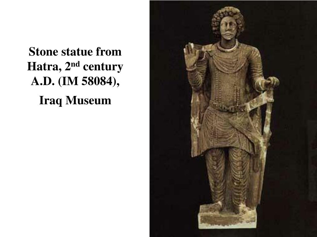 Stone statue from Hatra, 2
