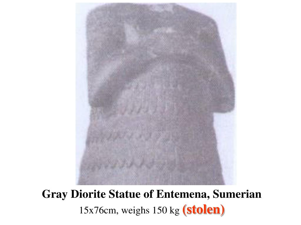 Gray Diorite Statue of Entemena, Sumerian