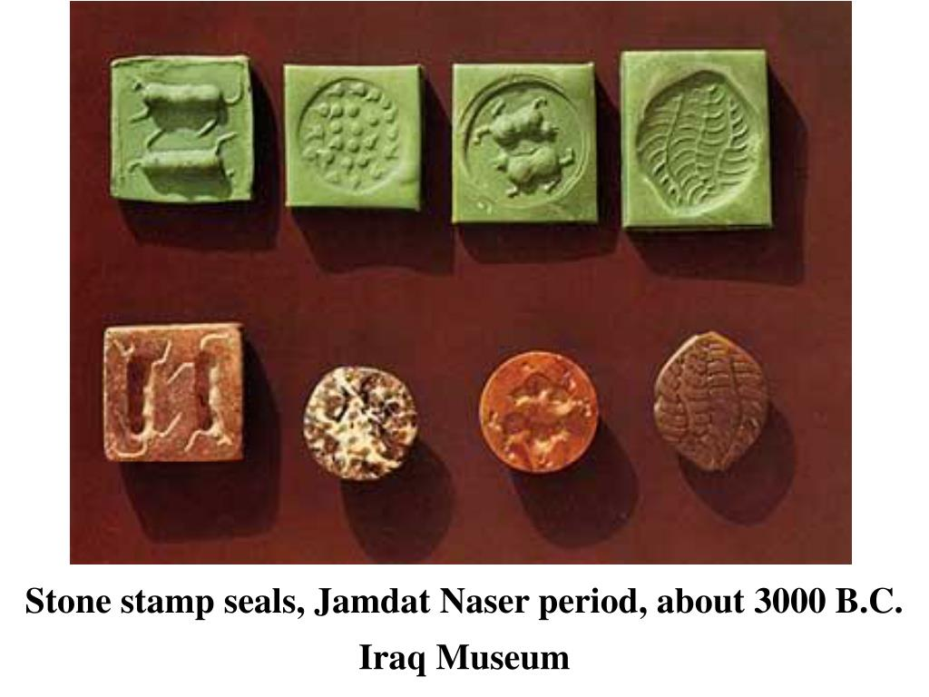 Stone stamp seals, Jamdat Naser period, about 3000 B.C.