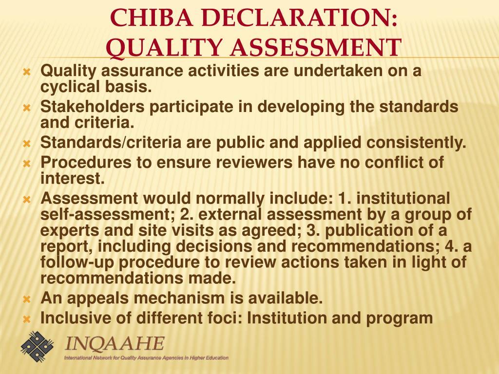 CHIBA DECLARATION:
