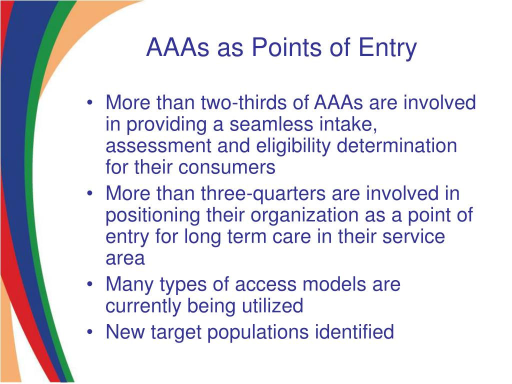 AAAs as Points of Entry
