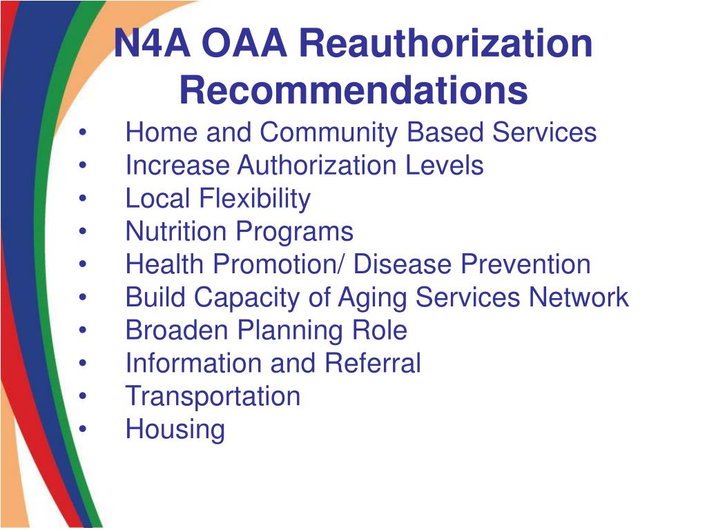 N4A OAA Reauthorization Recommendations