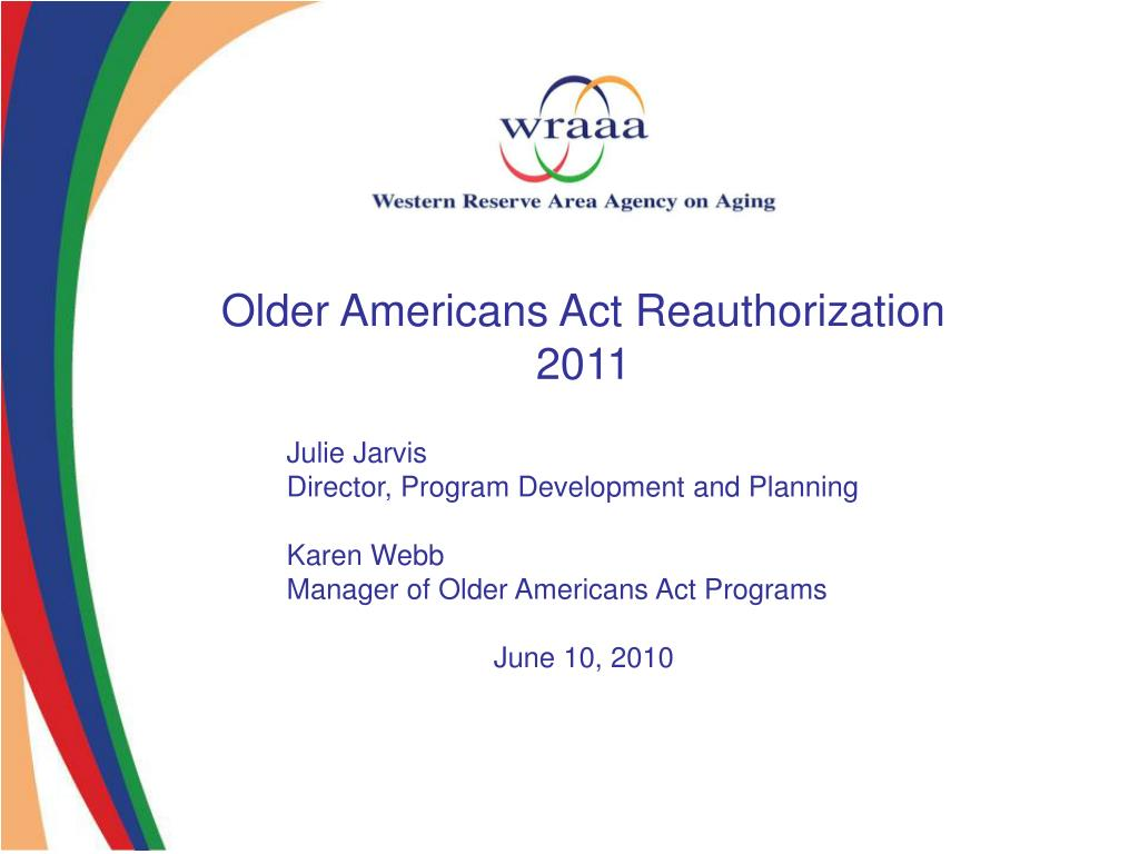 Older Americans Act Reauthorization