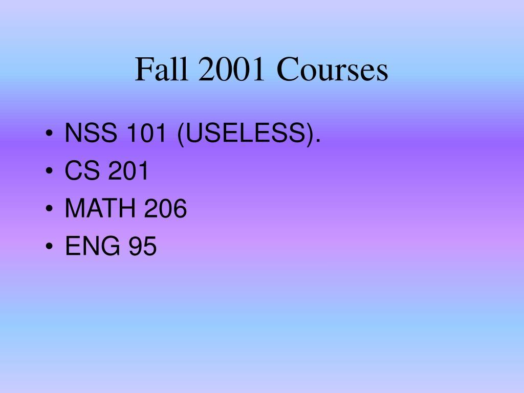 Fall 2001 Courses