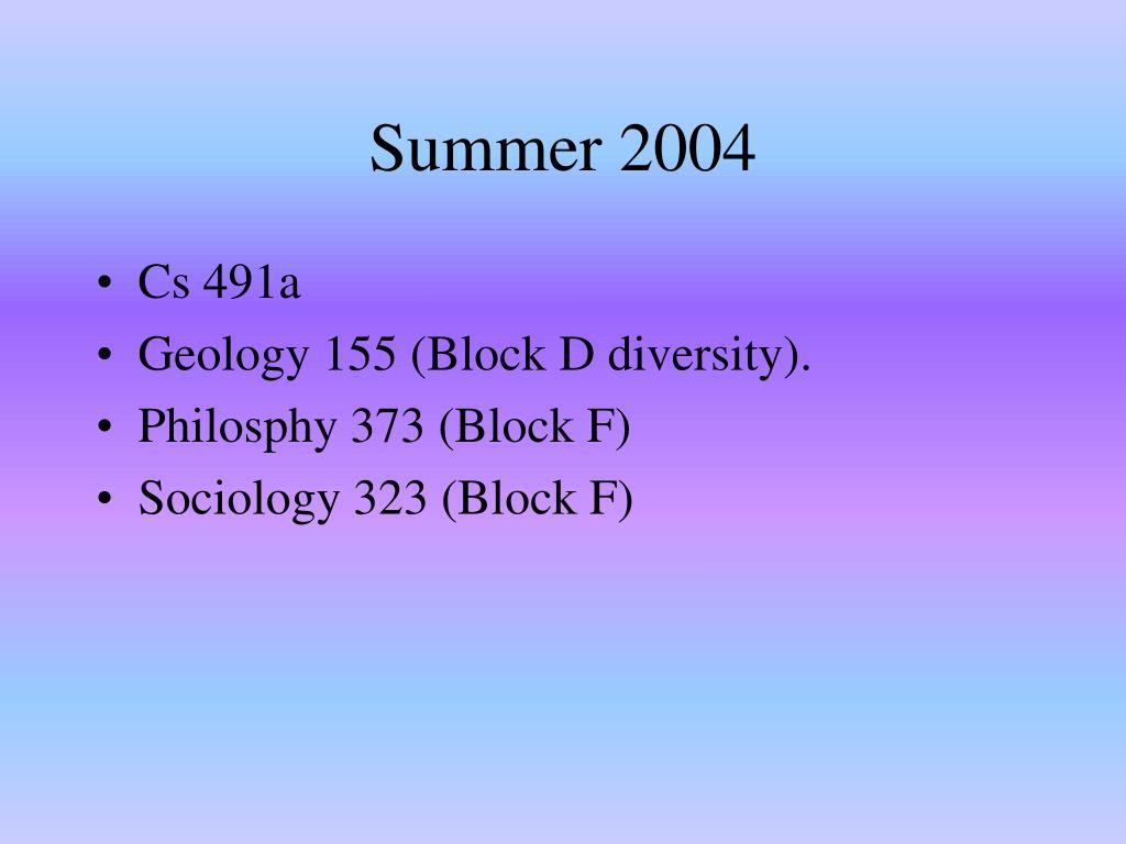 Summer 2004