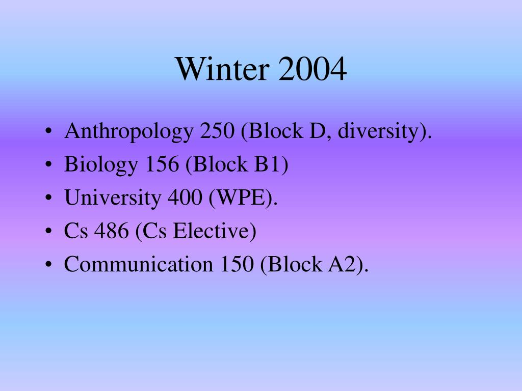 Winter 2004