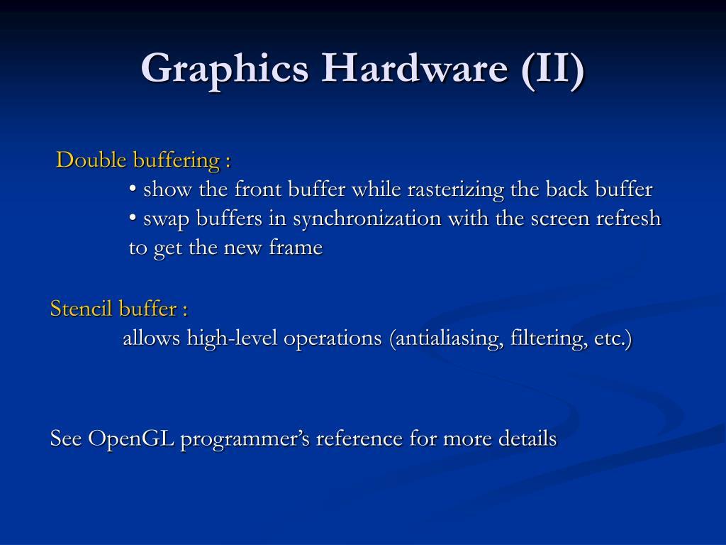 Graphics Hardware (II)