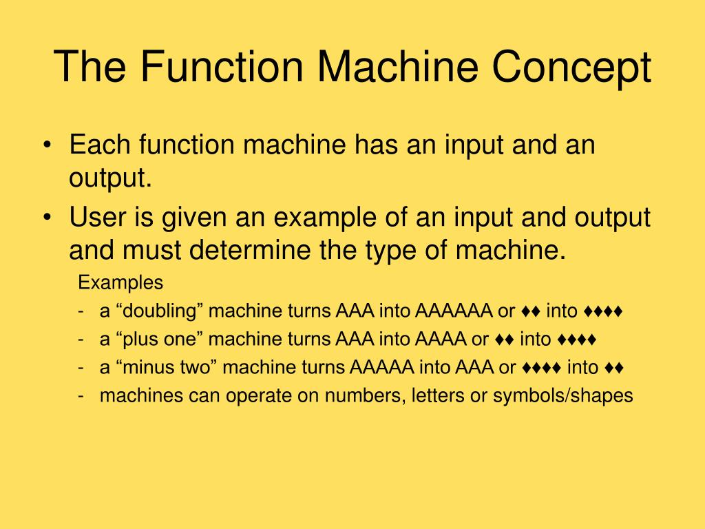 The Function Machine Concept