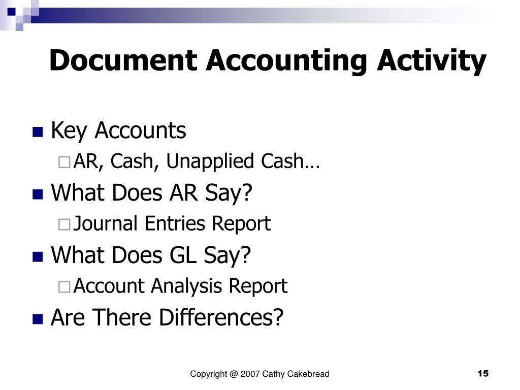 Document Accounting Activity