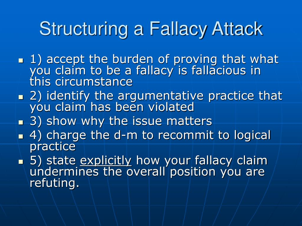 Structuring a Fallacy Attack