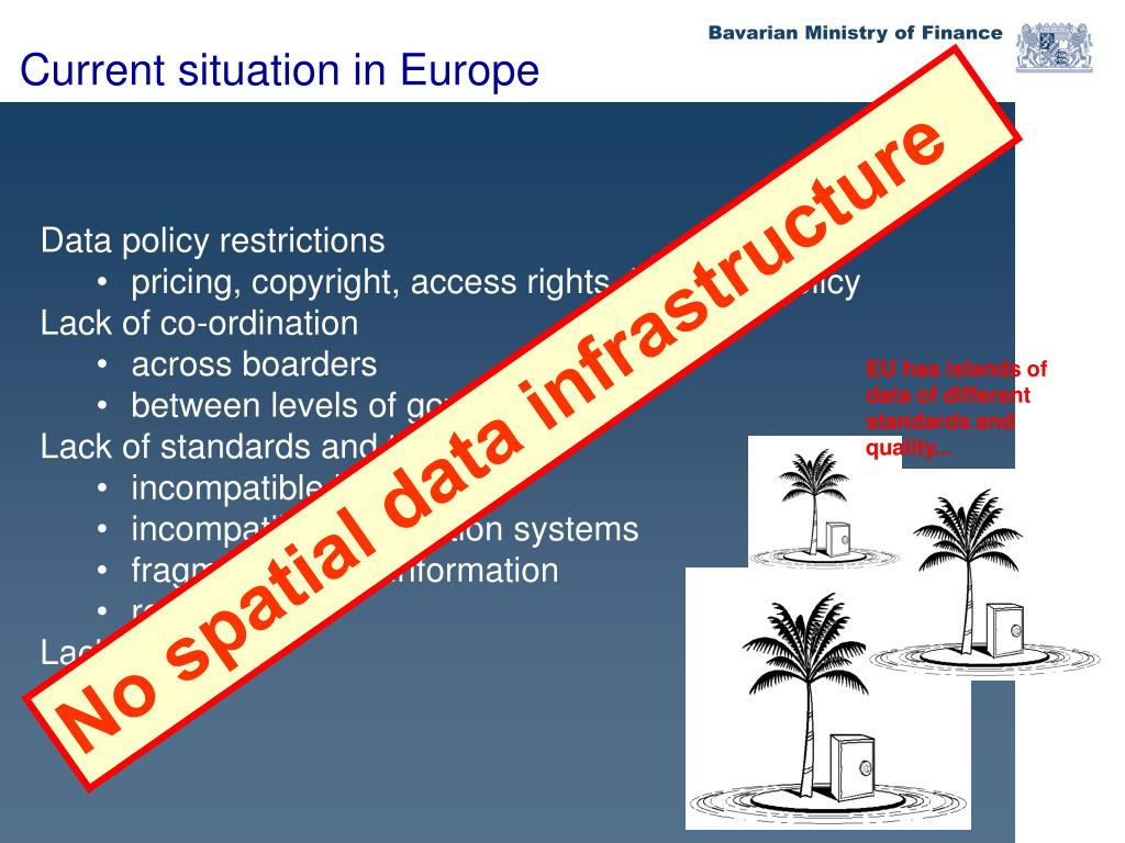 EU has islands of data of different standards and quality...